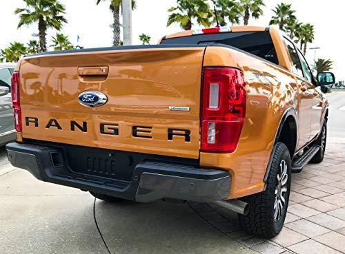 (Eurosport Daytona- Compatible with 2019 Ford Ranger Rear Bumper Letters Inserts - Black)