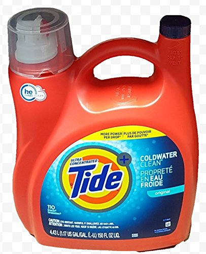 - Ultra Concentrated New Tide Coldwater Clean Original Liquid Laundry Detergent 4.43 L/150 Fl. Oz - 110 Loads