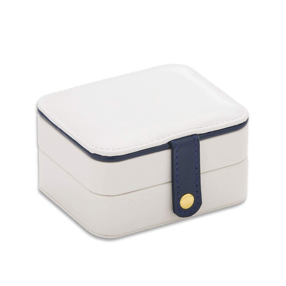 YD Jewelry Box - wear-Resistant PU Leather/Environmentally Friendly Bead Velvet, Movable Mirror, Detachable Spacer, European Princess Three-Layer Fashion Simple and Convenient Jewelry Storage Box