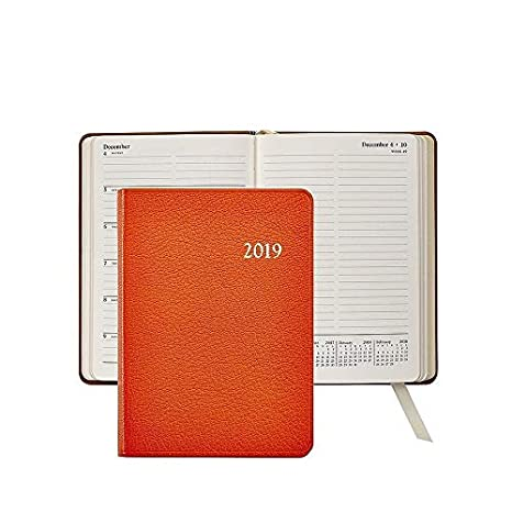 2019 Notebook, Month and Week-at-a-view pages, Event & Travel Information, Genuine Goatskin Leather, 7