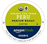 Kyпить AmazonFresh 80 Ct. Organic Fair Trade Coffee K-Cups, Peru Medium Roast, Keurig Brewer Compatible на Amazon.com