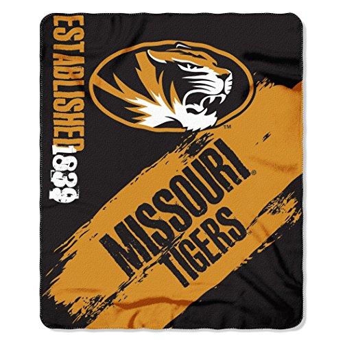 NCAA Missouri Tigers Painted Printed Fleece Throw, 50
