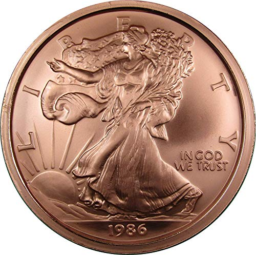 1986 American Eagle Huge One Pound Copper Paperweight