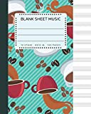Blank Sheet Music: Coffee Beans Roasting Green Cover 8x10' 100 Pages 12 Stave Standard Manuscript Paper / Staff Paper , Musicians Notebook