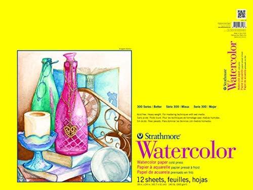 wit Strathmore 300 series aquarel papier