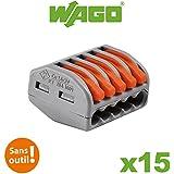 Wago - Boite de 15 bornes de connexion automatique 5 entrées S222
