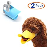 Hamiledyi Dog Mouth Cover Duck Mouth Shape Anti-bite Muzzle(Pack of 2) (M)