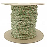 CleverDelights Jute Twisted Twine - 50 Yards - Natural and Mint Color - 3mm Diameter - Eco-Friendly Natural Jute String Rope