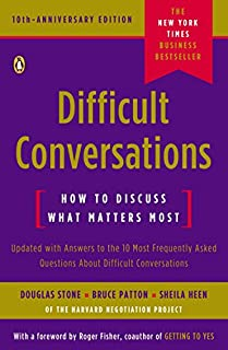 Difficult Conversations: How to Discuss What Matters Most (0143118447) | Amazon price tracker / tracking, Amazon price history charts, Amazon price watches, Amazon price drop alerts