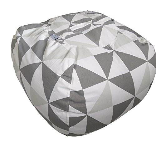 51gE84n5RJL - Fun Stuffed Animal Storage Bean Bag Chair to Tame the Growing Pile of Stuffies, Doubles as a Kids Chair or an Ottoman for Extra Storage