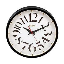 Casio Round Resin Wall Clock (30.5 cm x 30.5 cm, Brown, IQ-73-5DF)