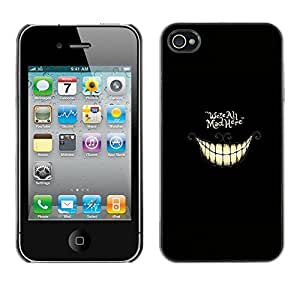 LOVE FOR iPhone 4 / 4S WE'RE ALL MAD HERE - ALICE Personalized Design Custom DIY Case Cover