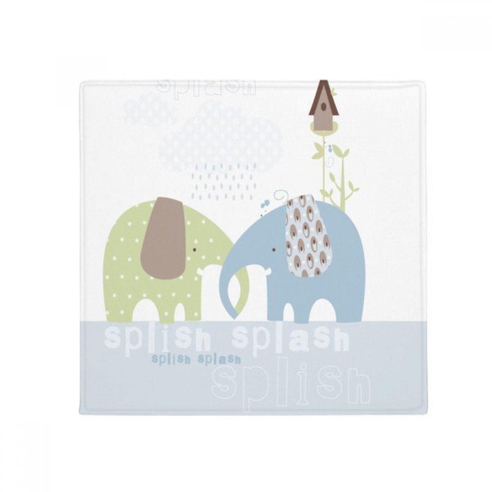 DIYthinker Splash Elephant bluee Green Rain Anti-Slip Floor Pet Mat Square Home Kitchen Door 80Cm Gift