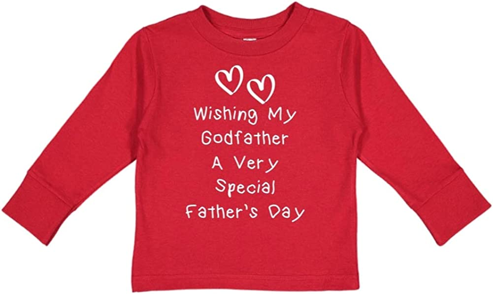 Mashed Clothing Wishing My Godfather A Very Special Fathers Day Toddler//Kids Long Sleeve T-Shirt