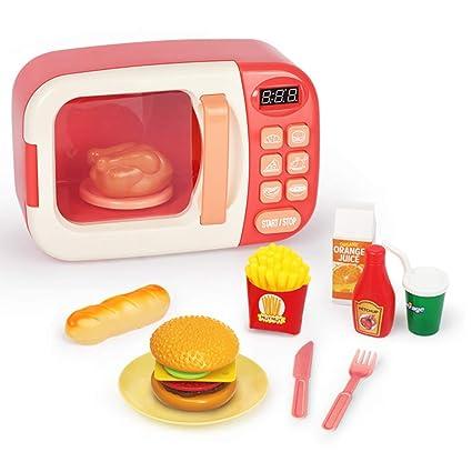 LIGHTOP Kitchen Cooking Toy Set Horno De Microondas Horno De ...