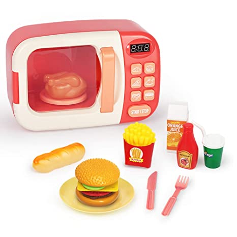 MIKLL Microondas de Juguete para niños Microondas con ...