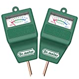 [2pack Soil Moisture Meter ] Dr.meter Hygrometer Moisture Sensor Meter for Garden, Farm, Lawn Plants Indoor & Outdoor(No Battery needed)