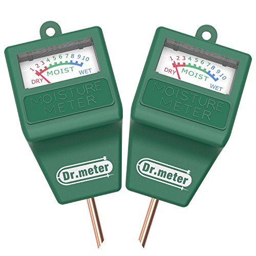 [2pack Soil Moisture Meter ] Dr.meter Hygrometer Moisture Sensor Meter for Garden, Farm, Lawn Plants Indoor & Outdoor(No Battery - Measure Moisture Soil