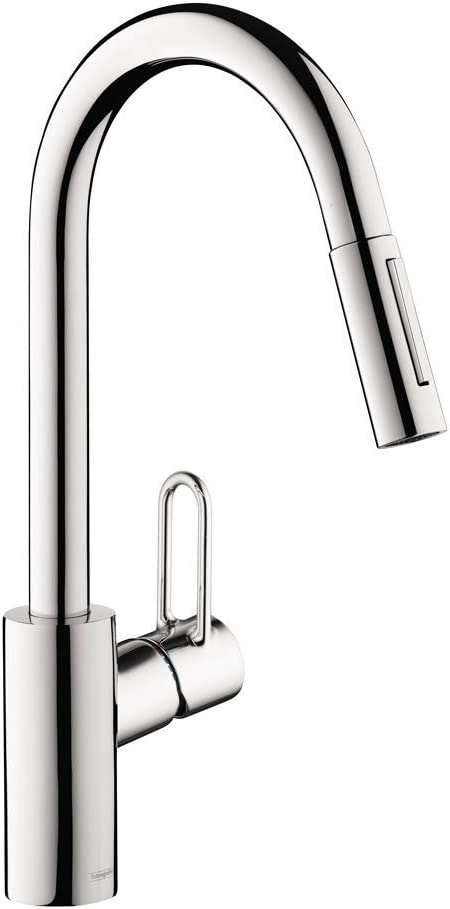 Hansgrohe Talis Loop 1 Handle Tall Kitchen Faucet With In Chrome 04701005 Amazon Com
