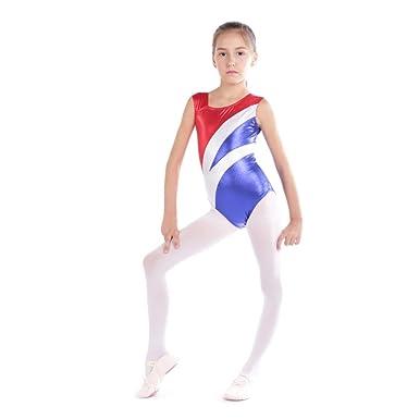 Qlan Justaucorps de Gymnastique Ballet pour Filles 1e5a26852ab