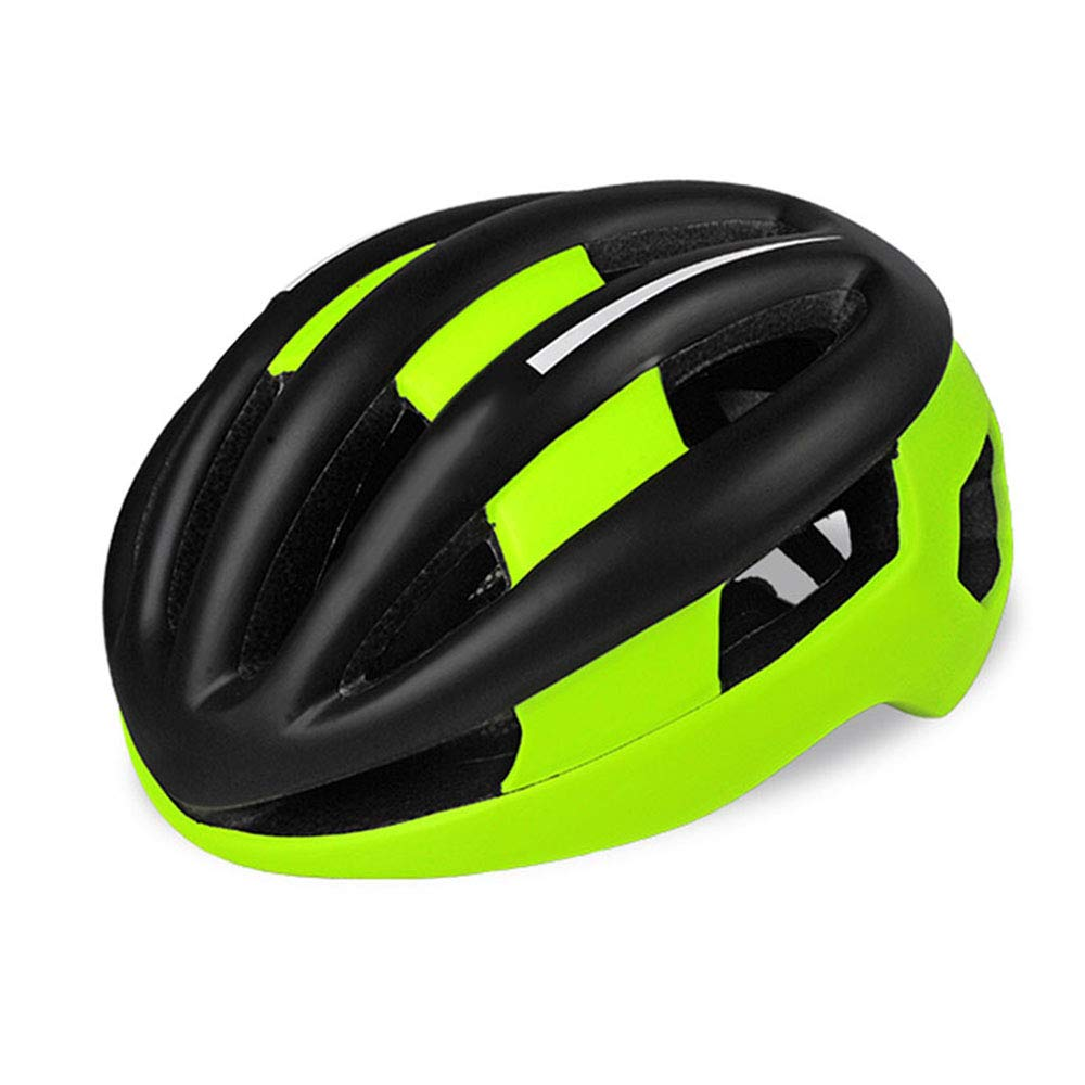 男性と女性のためのサイクリングヘルメット統合屋外旅行通気性ヘルメット(ブラックグリーン)   B07PLXW96M