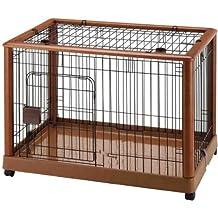 Richell Hardwood Mobile Pet Pen - Medium Dog Crate