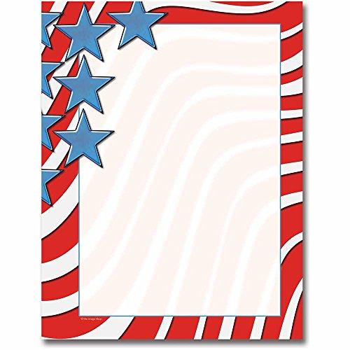 Star Spangled Banner Letterhead Laser & Inkjet Printer Paper, 100 Pack - Banner Paper Printers