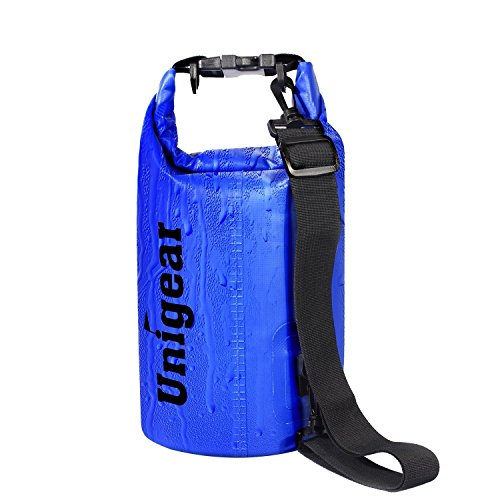 Dry Bag Sack, Waterproof Floating Dry Gear Bags for Boating, Kayaking, Fishing, Rafting, Swimming, Camping and Snowboarding (Blue, 5L)