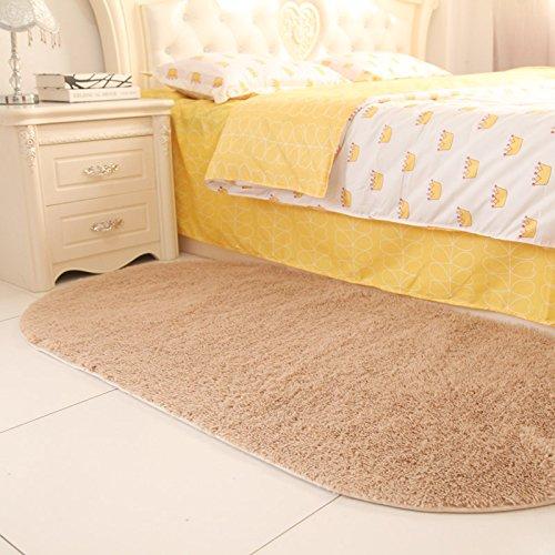 Sundian Oval massives Bett Schlafzimmer Schlafzimmer Flur Teppich im Wohnzimmer Teppich Teppich, 80  160 cm [Verdickung], Claret B077Z9NN2V Teppiche