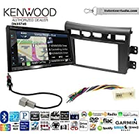 Volunteer Audio Kenwood DNX574S Double Din Radio Install Kit with GPS Navigation Apple CarPlay Android Auto Fits 2007-2009 Kia Amanti
