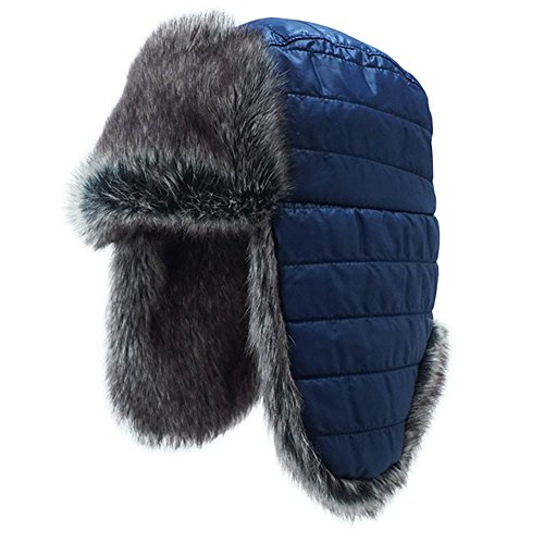 Keepersheep Todder Baby Boys' Ushanka Earflap Winter Bomber Hat Cap, Kids' Trapper Hat Bomber Hat (L/XL, - Aviators Are Guys For