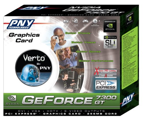 PNY Geforce 7300GT, 256MB DDR2 Pci-e .dvi + VGA + HDtv/s-video -