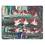 Mouse Mat,Personalized Non-Slip Mousepad for Office Work Travel Home Random Colors