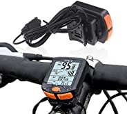 Bicycle Speedometer, MasoAuto Wireless LCD Digital Bike Odometer, Waterproof Cycling Computer, Bicycle Accesso