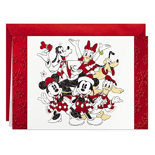 Hallmark Disney Boxed Christmas Cards, Mickey Mouse and Friends (16 Cards and 17 Envelopes)