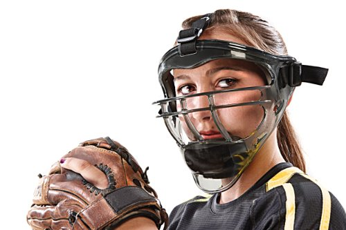 SKLZ Field Shield. Full-Face Protection Mask for Softball (Youth/Adult Sizes). (Adult Football Face Guard)