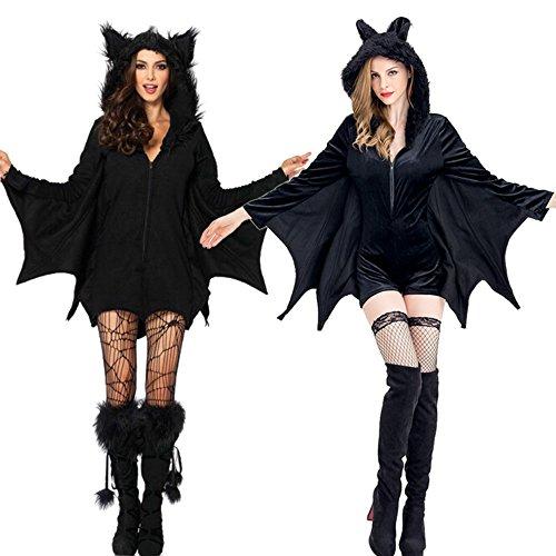 Halloween bat costume hoodedie dress(1706) (Zoombie Costumes)