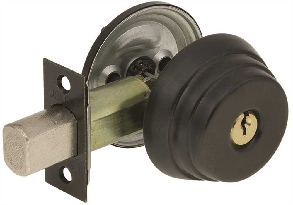 US Lock N1680 Deadbolt Sgl Cyl 2-3/8'' Stand Bs Sc1 Oil Rb Bronze