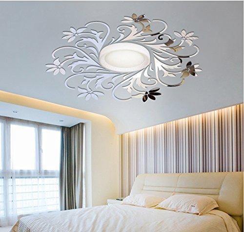 European Mirror sticker for ceilling decoration, DIY Top ceilling mirror wall sticker , top lighting the ceiling Chandelier around decorative mirror frame sticker by MEYA