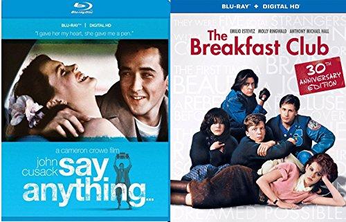 Breakfast Club & Say Anything... Blu Ray Fun Comedy 80's High School Teen movie Set