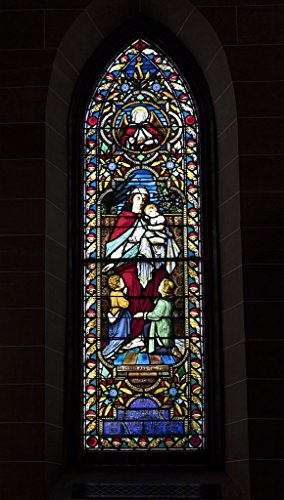 Photograph| Stained glass window inside Christ Episcopal Church in Raleigh, North Carolina, one of the first Gothic Reivival churches in the American South 3 Fine Art Photo Reproduction 30in x 44in