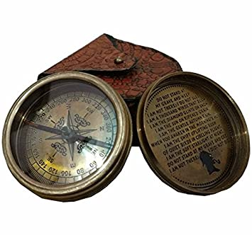 A S Handicrafts Antique Brass Sherlock Holmes Compass Antique Home Décor Item, Ideal Gifts