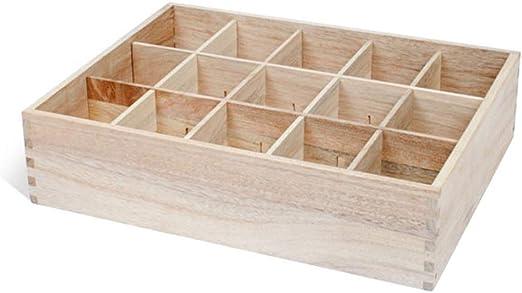 BHDYHM Caja de Almacenamiento de la Ropa Interior de alcanfor de Madera, Closet Ropa Interior Organizador del cajón Divisor for los Sujetadores Bragas Calcetines Lazos: Amazon.es: Hogar