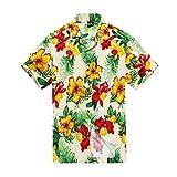 Men Hawaiian Shirt in Cream Floral