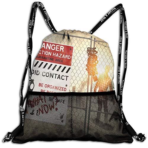 Drawstring Backpacks Bags,Dead Man Walking In Dark Danger