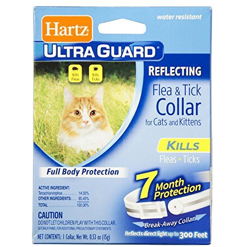 Hartz Ultra Guard Reflecting Flea & Tick Cat Collar, White 1 Each