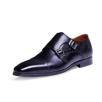 8e5870ea5c7902 LXMEI Veste mode Cuir Formal Chaussures Haut de gamme – Munch Chaussures – Cuir  Boucle moine