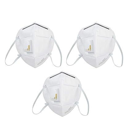 Respirador 3 piezas, Mascarilla de Protección Anti PM2.5 Antipolvo Tipo de Uso de