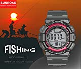 SUNROAD Mens Watch Weather Forecasting 50M Waterproof Fishing Outdoor Sports Fishing Watch with Barometer Thermometer Altimeter