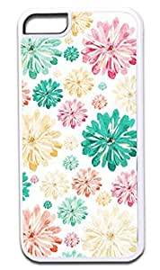01-Scattered Flowers-Pattern-Case for the APPLE iphone 4 4s ONLY!!! NOT COMPATIBLE WITH THE iphone 4 4s case!!!-Hard White Plastic Outer Case with Tough Black Rubber Lining WANGJING JINDA